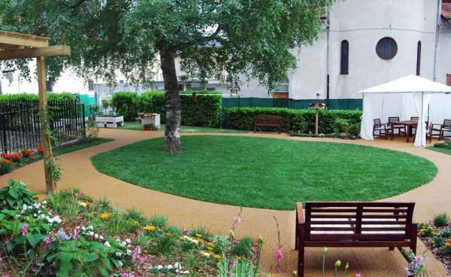 Giardino Alzheimer_ centro diurno_Chiavenna_progetto arch Monica Botta