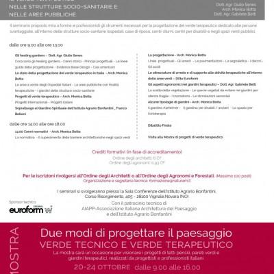 IL VERDE TERAPEUTICO NELLE STRUTTURE SOCIO-SANITARIE E NELLE AREE PUBBLICHE