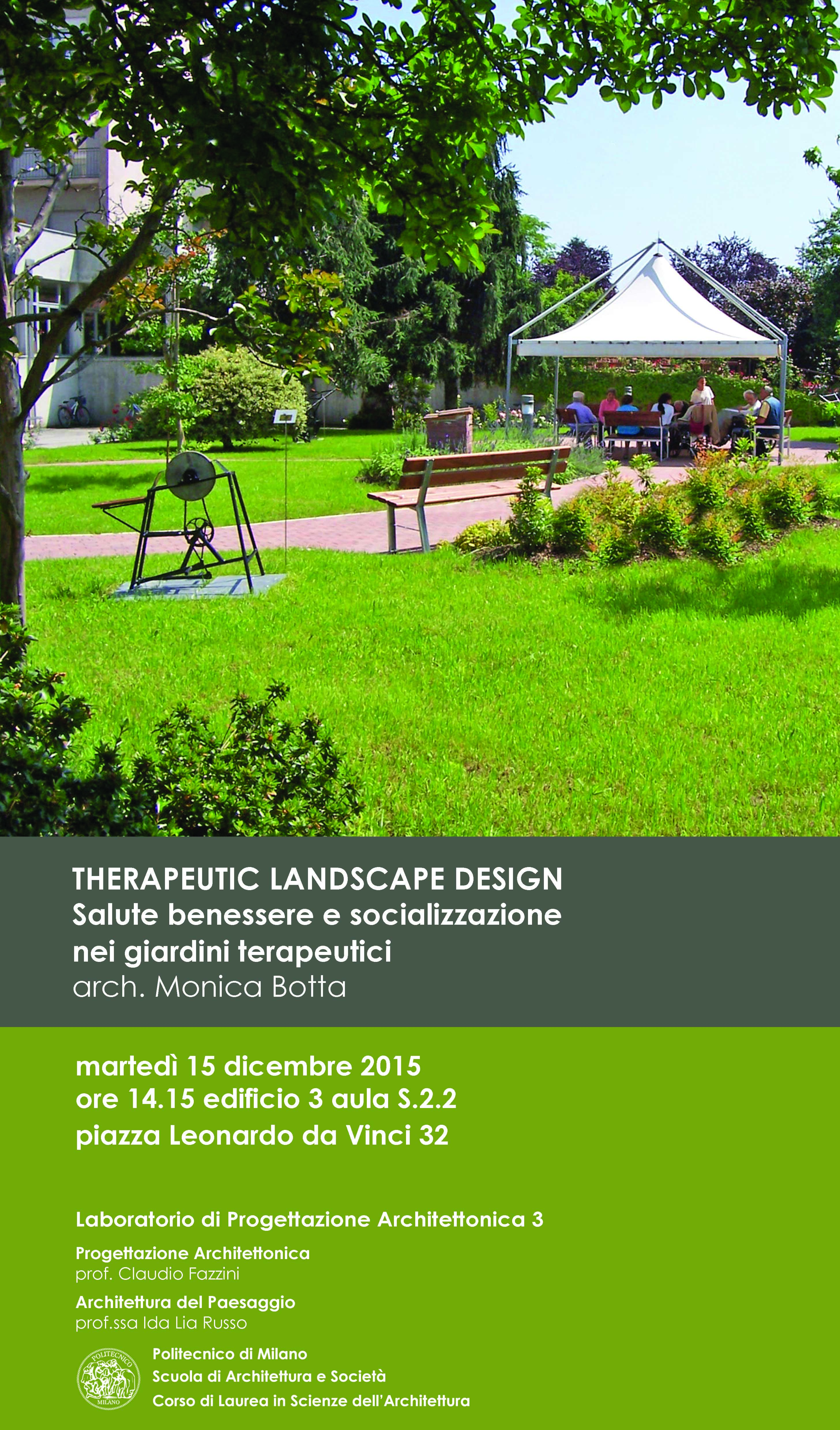 Therapeutic landscape design salute benessere e - Monica botta ...