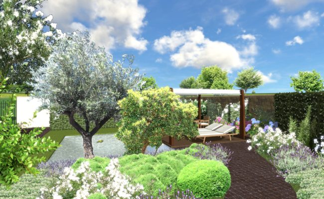 giardino privato_ render