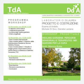 WORKSHOP Healing gardens: percorsi sensoriali terapeutici nei giardini per la cura